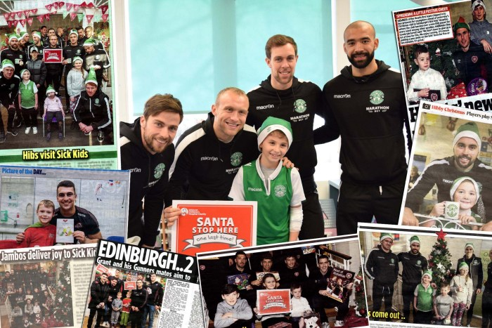 Montage of the PR Success on the sports visits to Sick Kids