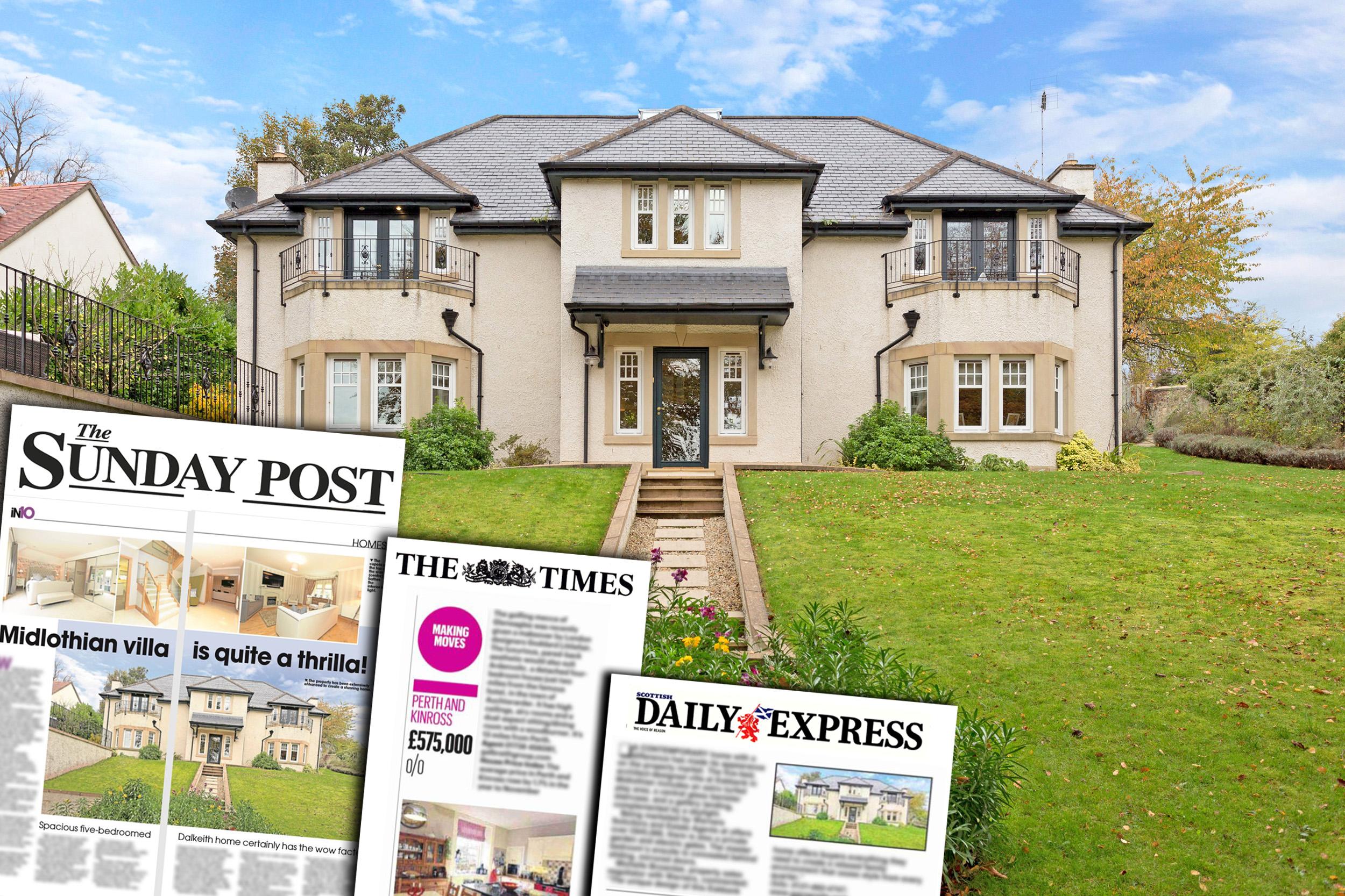 Stunning Eskbank Villa property PR success
