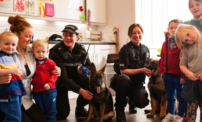 Edinburgh Children's Hospital Charity Police Dog Visit