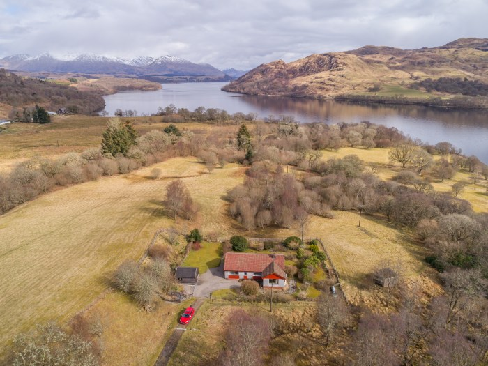 Property PR agency shares the Achnambroc property set against the backdrop of picturesque Scottish scenery