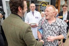PR Photography shares images of Michael Sheen's appearance in Leith - Holyrood PR
