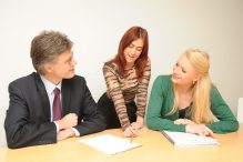 Holyrood PR consultants meet with a client
