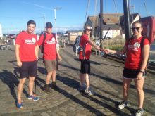 17 men and women are undertaking a relay challenge between Edinburgh and Glasgow to raise funds for children's charity - story by Charity PR experts.