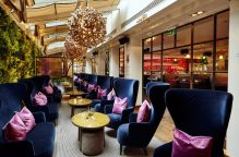 Hotel PR photograph of Tigerlily's luxurious seating area in Edinburgh