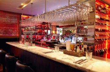 Hotel PR photograph of rear bar in Tigerlily, Edinburgh