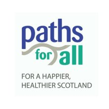 Paths For All logo. The walking and health champions work with charity PR experts at Holryood PR