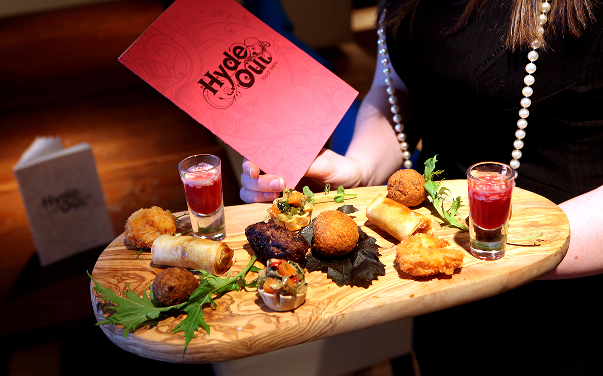 Food and drink PR photos from Hyde Out Style bar in Edinburgh