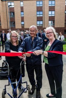 Edinburgh PR photography at the opening of the new Bield Housing Development, Fleming Place in Edinburgh, Scotland.