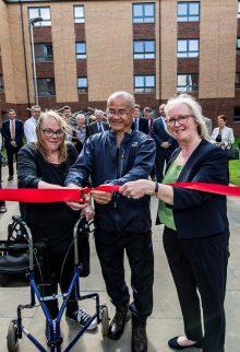 Edinburgh PR photography at the opening of the new Bield Housing Development, Fleming Place in Edinburgh, Scotland.