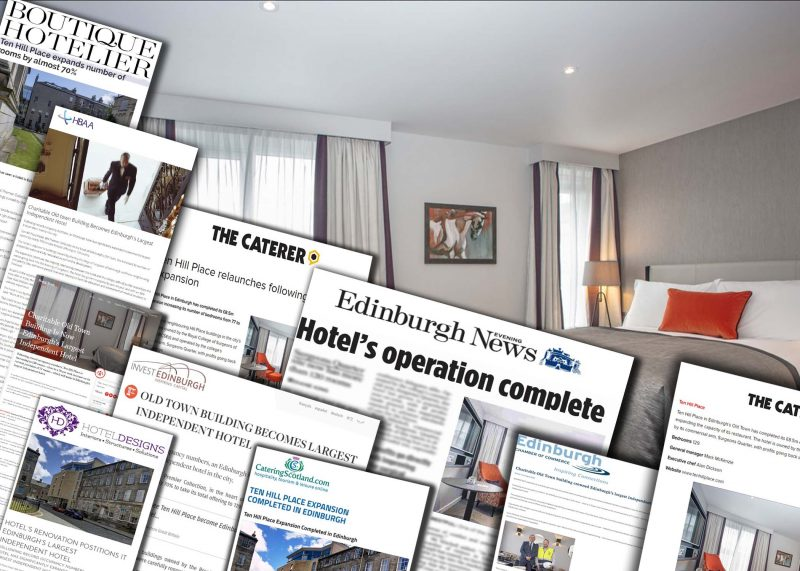 12 OCT Surgeons Quarter montage following success of reopening Ten Hill Place. Hotel PR in action