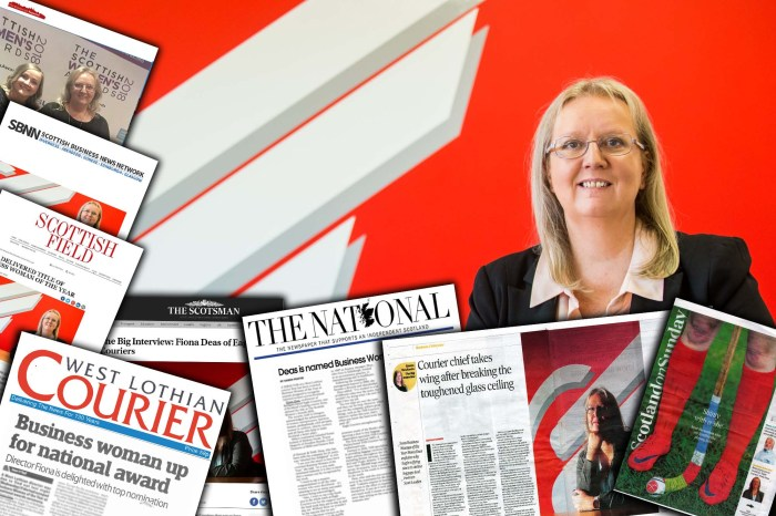 Courier boss is celebrating after picking up Business Woman of the Year award - Scottish PR