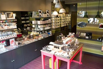 Interior of makeup shop, photographed by hair and beauty PR experts