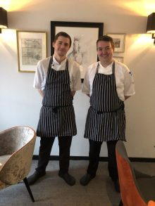 Hotel PR photos of Jamie Reid and Alan Dickson, Executive Chef and Head Chef at Ten Hill Place