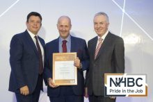 Senior Site Manager Ian Welsh at NHBC Pride in the Job Awards | Property PR