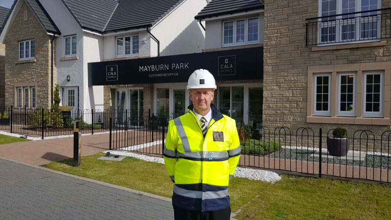 Senior Site Manager Ian Welsh at Mayburn Park, Straiton Property PR