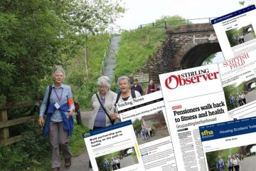 Charity PR agency shares coverage for a partnership between Bield and Paths for All to get Strathallan Court tenants and Stirling residents walking