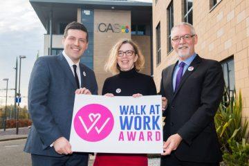Charity PR photograph of Walk at Work Award Launch