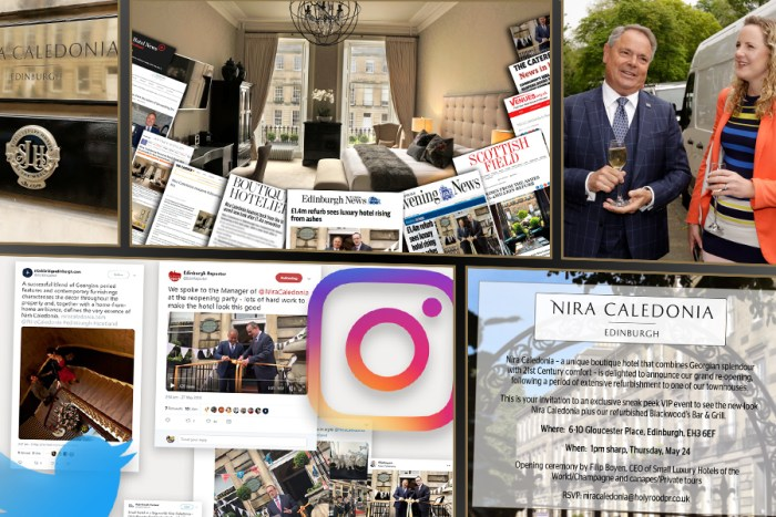 Influencer marketing as part of Nira Caledonia's hotel PR