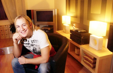 Property PR photography for distinctive flat owned by aspiring rock star