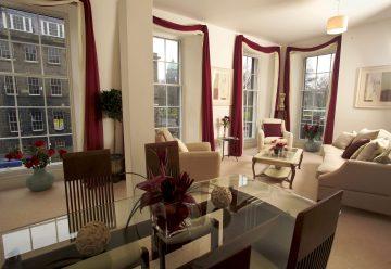 Property PR photography of Charlotte Apartments Edinburgh