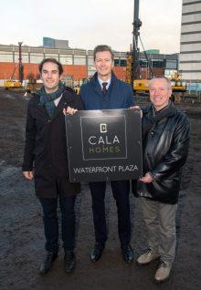 Cllr Adam McVey, Craig Lynes, Cllr Gordon Munro Property PR in Scotland