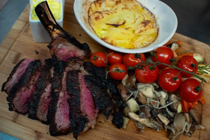 Cote de Hoff. a special dish by The Hoff during a stay at Edinburgh's Nira Caledonia, shared Hotel PR agency