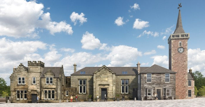 Property PR render of the redevelopment of Kinross Town Hall