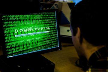 Tech PR photograph of a computer screen loading