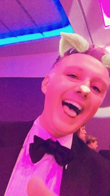 Snapchat photo to celebrate PR awards success