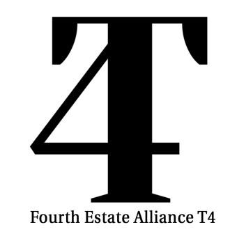 The logo of The Fourth Estate Alliance, an online tool to support and help freelance journalists all over the world