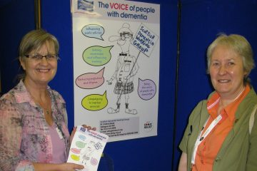 Dementia champion and former nurse Agnes Houston, left, captured in care PR photography