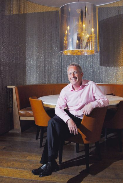Bar, restaurant and hotel PR photography of Managing Director David Wither at Tigerlily in Edinburgh