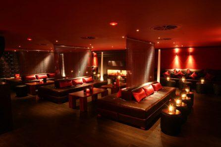 Hospitality PR photography showing interior design at Lulu nightclub in Edinburgh