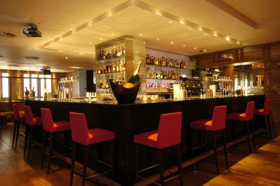 The main bar in Tigerlily Edinburgh captured in successful bar and restaurant PR photography