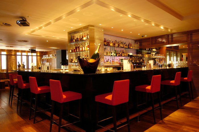 The main bar in Tigerlily Edinburgh captured in successful food and drink PR photography