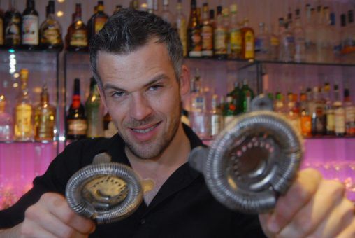 Hotel PR photography of Tigerlily hotel mixologist, Sam Kershaw