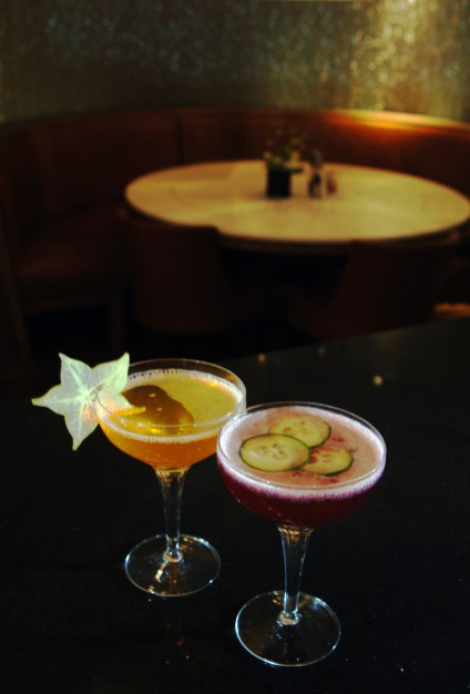 Food and drink PR photography of cocktails at Tigerlily in Edinburgh