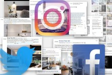 A montage of digital PR and social media success for a luxury property development