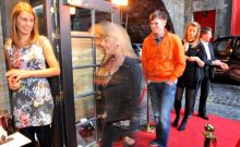 Visitors are seen arriving at the launch of Edinburgh's latest wine bar, Divino Enoteca, in a food and drink PR image