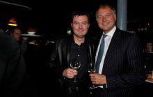 Edinburgh radio host Grant Stott attends the launch of Edinburgh wine bar, Divino Enoteca, captured in a food and drink PR image