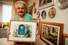 PR photography of blind painter Margaret McNeil, 95 | social care PR