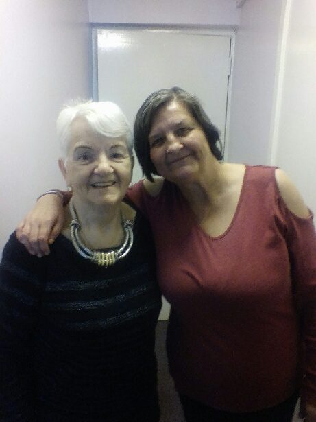 Mother and daughter Isa and Sharron Curran in a Scottish PR photograph to celebrate Mother's Day