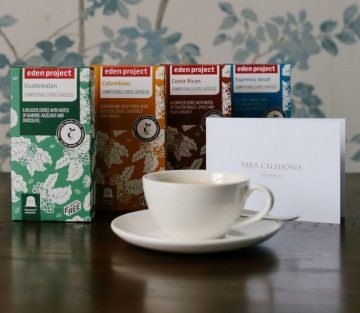 Edinburgh PR story of Nira Caledonia hotel's new compostable coffee capsules