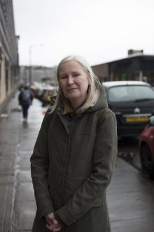 Edinburgh PR agency shares a photograph of Anne Marie Hunter, 56, on Glasgow's streets. Photograph by Anna Hunter for Humans of the Walk exhibition by Paths for All.