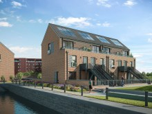 The colonies at CALA Homes' Waterfront Plaza development are shown in a CJI property PR image