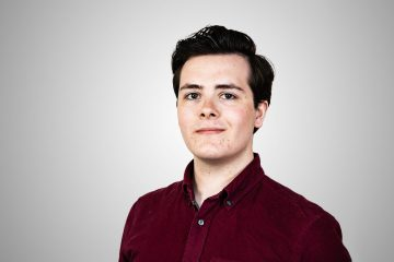 PR photograph of Murray Glen, an intern at a Scottish PR agency, Holyrood PR