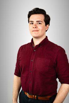 PR photograph of Murray Glen, an intern at a Scottish PR agency, Holyrood PR