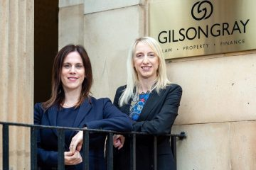 Legal PR photography of Philippa Cunniff and Sally Nash from Gilson Gray