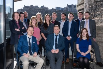 The Skyrora team pictured in a tech PR photo at their Edinburgh headquarters. Credit Ivon Bartholomew