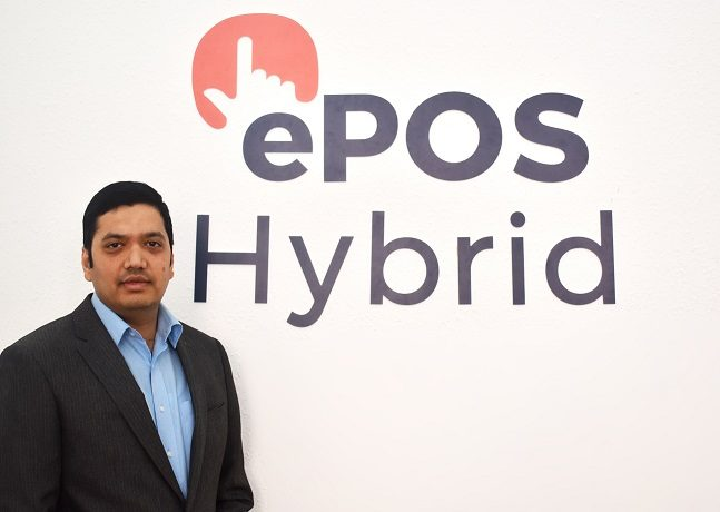 Tech PR photography of ePOS Hybrid Founder Bhas Kalangi